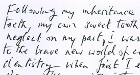 Letter from patient